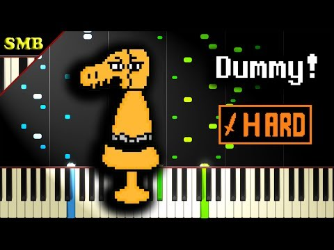 UNDERTALE - DUMMY! - Piano Tutorial