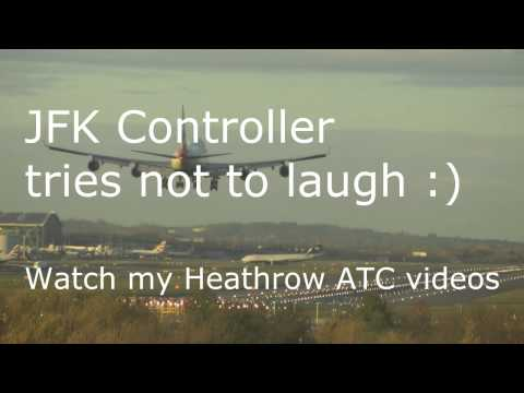"""Pilot """"See you next time"""" JFK Air Traffic Control Tower Can't stop laughing (hilarious)"""