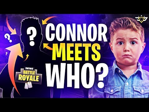 CONNOR FINALLY MEETS WHO?! - HE GOT SO EXCITED! (Fortnite: Battle Royale)