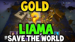 GOLD LlAMA OPENING FORTNITE - (Save the World) - Xbox One, Playstation 4 or PC