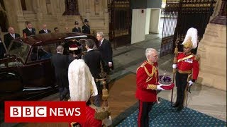 Queen's Speech: Queen's crown arrives in Palace of Westminster BBC News