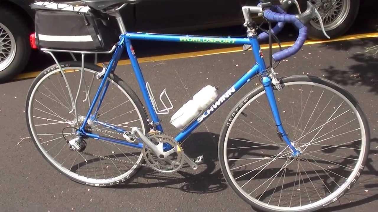 Fastest Road Bike >> Restored 1992 Schwinn World Sport - YouTube