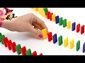 Domino Loco 🔵 Juego de Mesa con Camión que Crea Efecto Domino