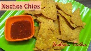 Homemade Nachos chips | Corn Tortilla Chips | Makki ke Chips | Indian Tadka