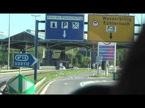 Scenic drive from Luxembourg City, Luxembourg to Trier, Germany