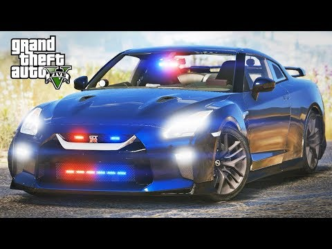 GTA 5 LSPDFR #329 - Nissan GT-R