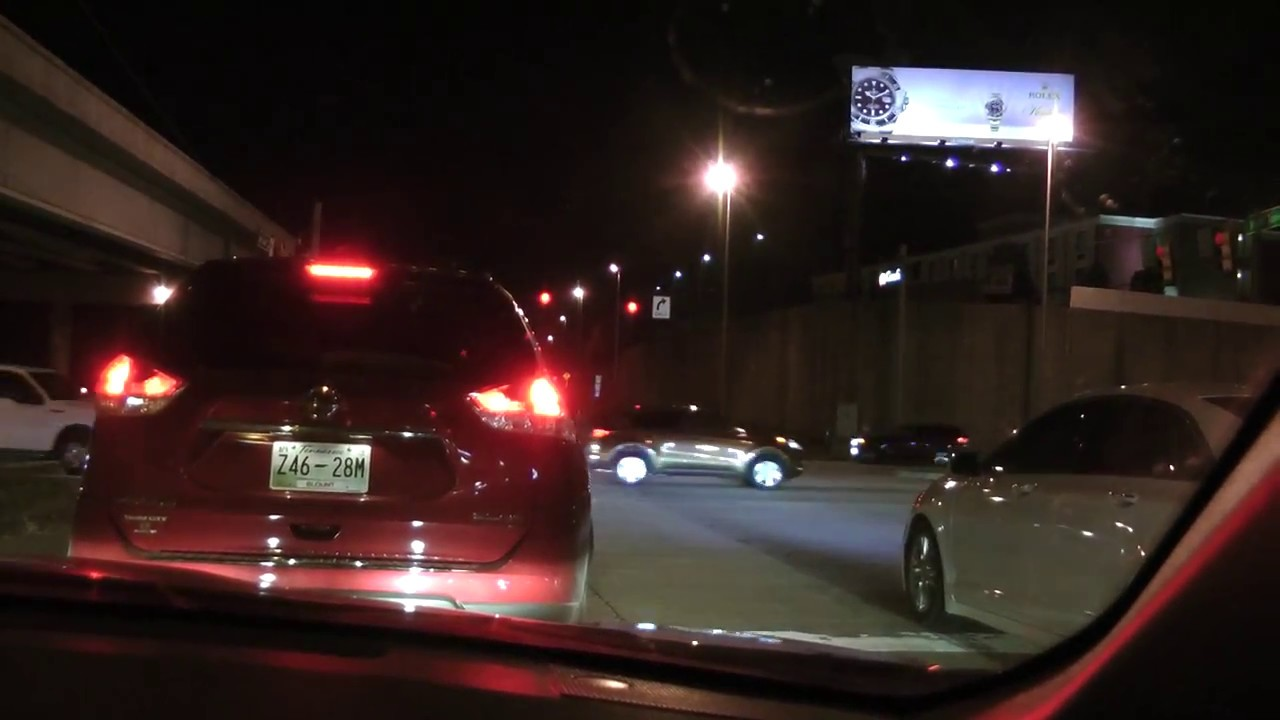 heavy traffic on exit 380 from I-40/I-75 in Knoxville, Tennessee  Thanksgiving evening 2017