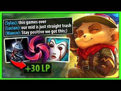 #1 TEEMO WORLD INSANE COMEBACK IN THIS IMPOSSIBLE WIN GAME - League of Legends