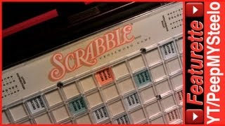 Travel Scrabble Game Folio Edition w/ Board Pieces & Letter Tiles to Play Games With Friends