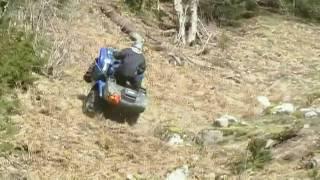 ATV CRASH !!!!!!! 09 GRIZZLY 700 @ CAROLIN MINES