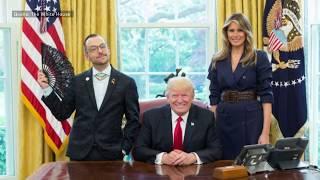 Besuch bei Donald Trump: Dieser Lehrer nutzt die Gunst der Stunde