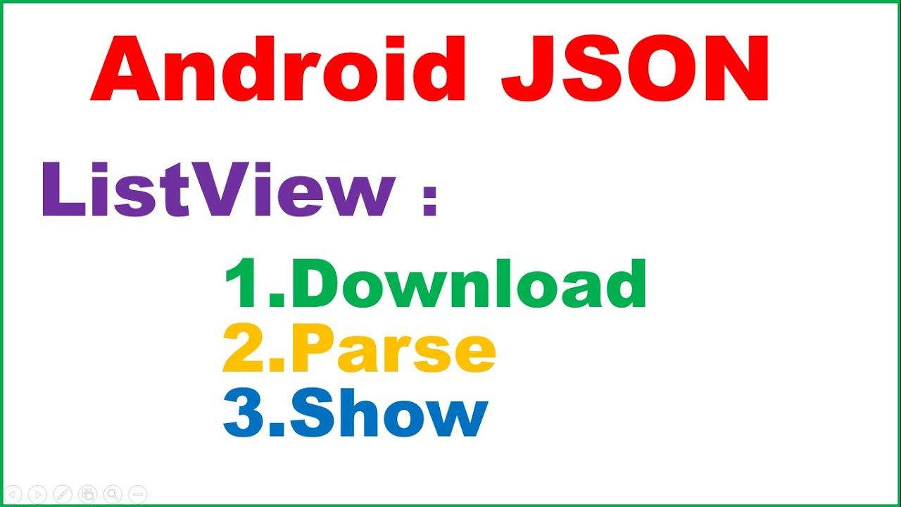Anroid Native JSON Ep.03 : ListView - Download,Parse and Show ...