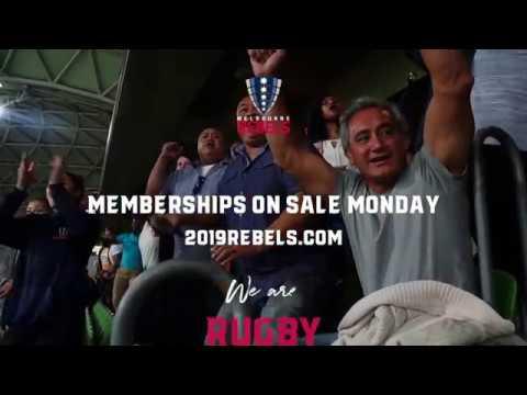 2019 Rebels Membership: We Are Rugby
