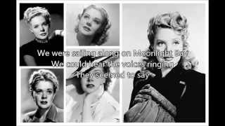ALICE FAYE - Moonlight Bay with lyrics