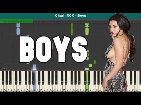 Boys Piano Tutorial - Free Sheet Music (Charli XCX)
