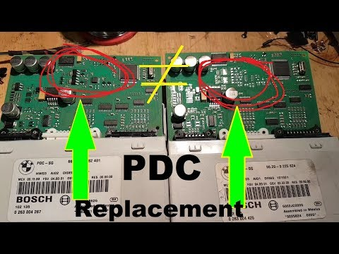 BMW Series 1 E87 PDC Not Working. Module Replacement And Programming.