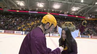 Rachel & Jeff Marriage Proposal - Golden Gopher Hockey
