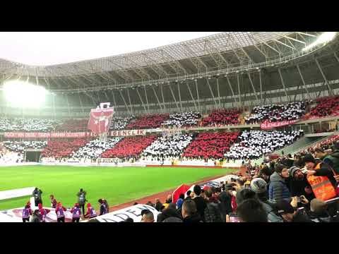 Sivasspor-Beşiktaş maçı KOREOGRAFİ (4K/60FPS)  23.12.2017