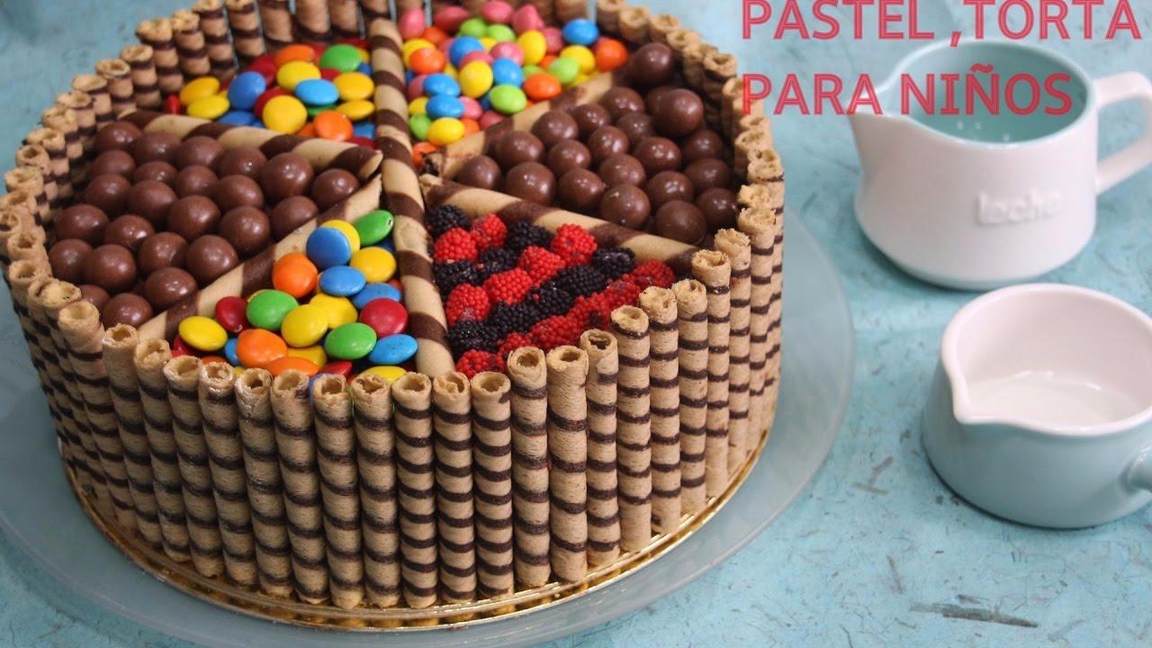 Torta o pastel para ni os youtube for Como decorar una torta facil y rapido