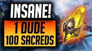 1 DUDE 101 SACRED SHARDS! THIS IS DISGUSTING! | Raid: Shadow Legends screenshot 5