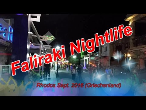 Rhodos - 2016: Faliraki Nightlife in 90 Sekunden