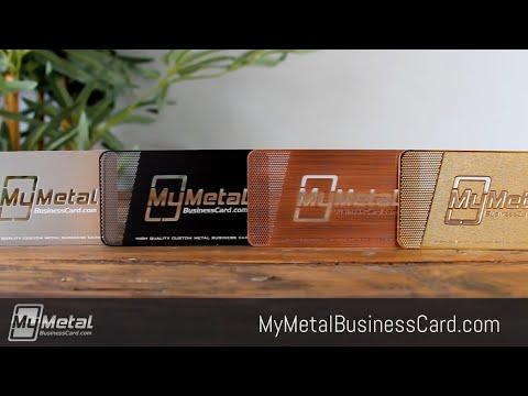 Introducing My Metal Business Card - 100% satisfaction guaranteed!