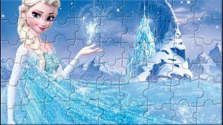 Disney Frozen 2 Puzzle Video Games. Princess Elsa. Пазлы Холодное Сердце. Принцесса Эльза.