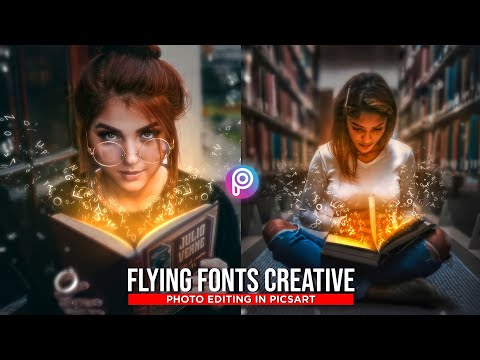 Flying Fonts Creative Photo Editing in Picsart | Photo Editing Tutorial