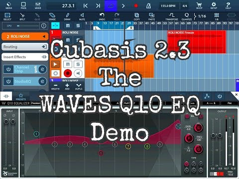 CUBASIS 2.3 - The WAVES Q10 10 Band Para Graphic EQ - Tutorial for the iPad