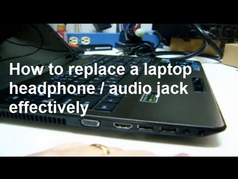 how to fix a broken laptop audio or headphone jack youtube. Black Bedroom Furniture Sets. Home Design Ideas