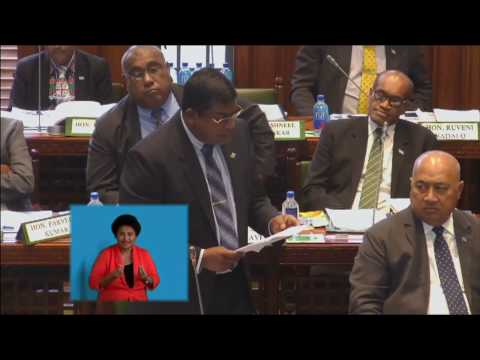 Fijian Minister for Education informs Parliament of the strengthening of library facilities
