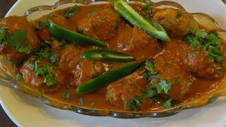 How To Make  Kofta Curry W/chicken And Tomato Sauce - Koftay - Chicken Meatballs Recipe