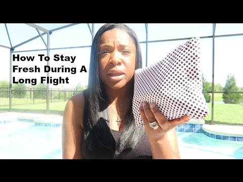 What's In My Bag||How To Stay Fresh During A Long Flight||Travel Talk