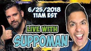 Live Hangout With SUPPOMAN! Interview with Michael Suppo. Lets Talk BitCoin and Cryptocurrency