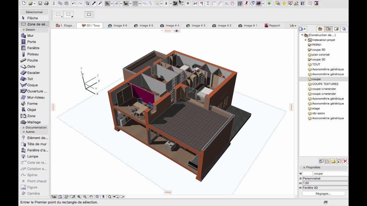 Archicad 19 les outils de visualisation 3d youtube - Faire une piece en 3d ...