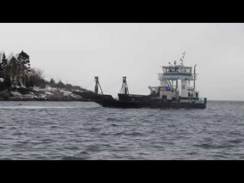 Barge Landing on Island