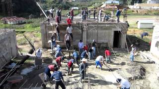 Computers for Hope: Santa Eulalia students pouring slab for their high school in Guatemala