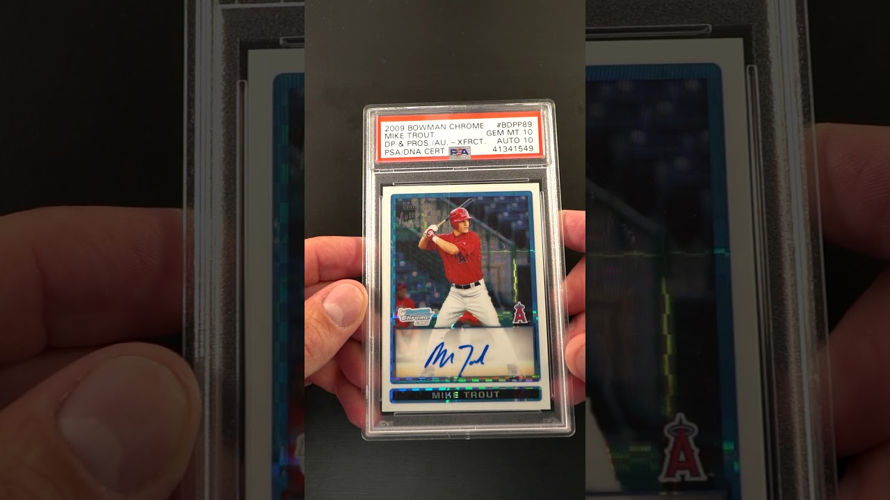 2009 Bowman Chrome Xfractor Mike Trout Rookie Psadna 10 Auto 225 Psa 10 Pwcc Ends 72219
