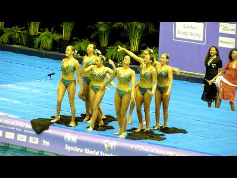 Team Egypt,Synchronized Swimming, Montreal, November 2009