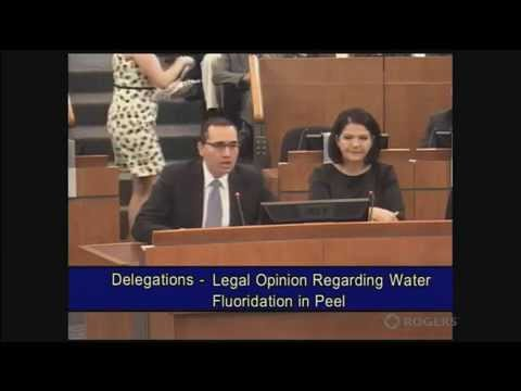 Presentation to Peel Region ~ Legal Opinion on Water Fluoridation