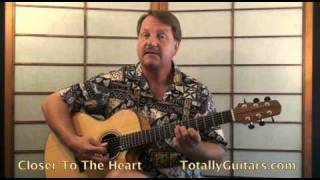 Rush - Closer To The Heart Guitar lesson