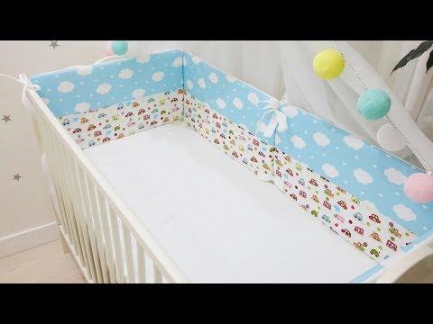 Плоские бортики в кроватку. Пошив.
