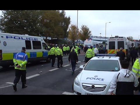 West Midlands Police at a Football Derby in Birmingham