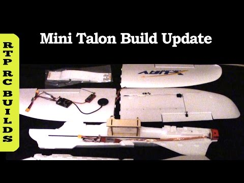 X-UAV Mini Talon FPV V-Tail Plane Build Update