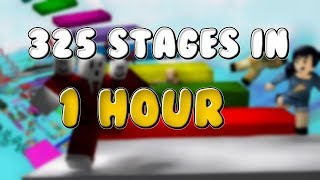 FINISHING 325 OBBY STAGES IN 1 ORA! Roblox