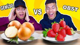 GEMÜSE VS OBST CHALLENGE !!!   Kelvin und Marvin