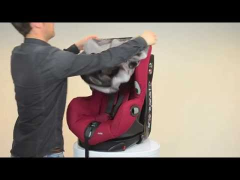 Installation du si ge auto groupe 1 axiss de bebe confort for Housse siege auto axiss