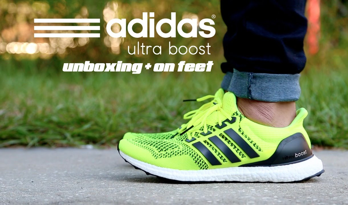 7e5561bdf5f6c Adidas Ultra Boost Solar Yellow Unboxing + On Feet - YouTube
