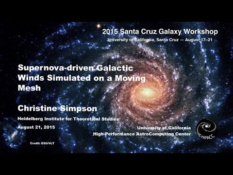 Supernova-Driven Galactic Winds Simulated on a Moving Mesh - Christine Simpson