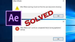 How to Fix After Effects Error While Accessing the Preference Files Windows
